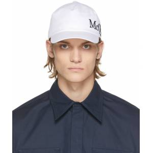Alexander McQueen White & Black Logo Cap  - 9260 IVORY/BLACK - Size: 62