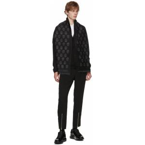 Alexander McQueen SSENSE Exclusive Black Wool All Over Skull Scarf  - 1061 BLKDKG - Size: UNI