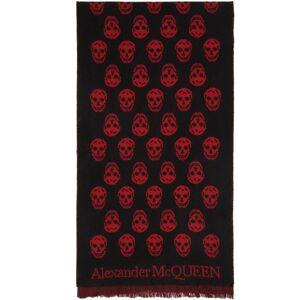 Alexander McQueen SSENSE Exclusive Reversible Red & Black Skull Scarf  - 1074 BLKRED - Size: UNI