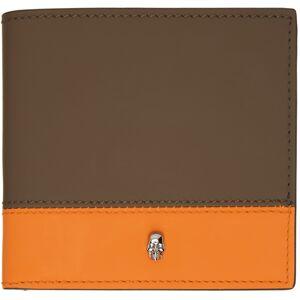 Alexander McQueen SSENSE Exclusive Khaki & Orange Bifold Wallet  - 3277 FANGO+ORANGE - Size: UNI