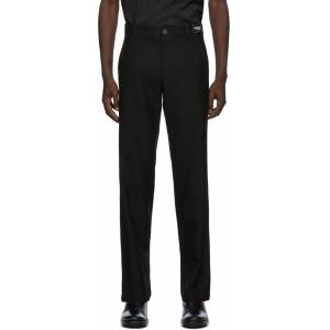Ann Demeulemeester SSENSE Exclusive Black God Of Wild Advise Trousers  - 099 Black - Size: 38