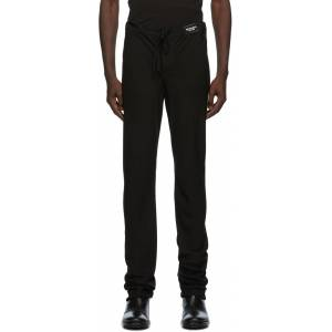 Ann Demeulemeester SSENSE Exclusive Black God Of Wild Pippa Trousers  - 099 Black - Size: 38