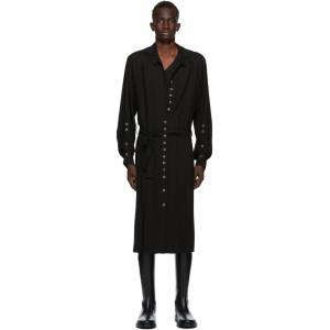 Ann Demeulemeester SSENSE Exclusive Black God of Wild Pippa Shirt Dress  - 099 Black - Size: Small