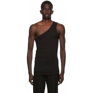 Ann Demeulemeester SSENSE Exclusive Black God of Wild One Shoulder Tank Top  - 099 Black - Size: Small
