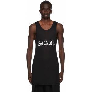 Ann Demeulemeester SSENSE Exclusive Black God of Wild Chic Tank Top  - 099 Black - Size: Extra Small