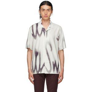 Paul Smith White & Grey Spray Short Sleeve Shirt  - 1 WHITE - Size: Small