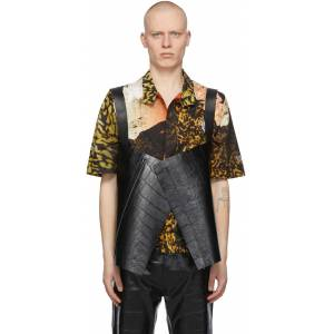 Givenchy Black Croc Short Cape Vest  - 001-BLACK - Size: Medium