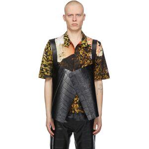 Givenchy Black Croc Short Cape Vest  - 001-BLACK - Size: Large