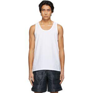 Givenchy White Pinstripe Tank Top  - 100-WHITE - Size: Small
