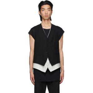 Ann Demeulemeester Black Layered Vest  - BLACK - Size: Small