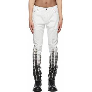 Ann Demeulemeester White Tie-Dye Jeans  - WHITE - Size: 28