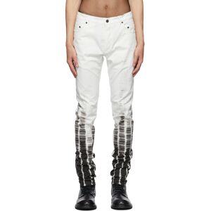 Ann Demeulemeester White Tie-Dye Jeans  - WHITE - Size: 34