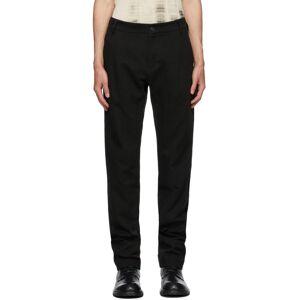 Ann Demeulemeester Black Cotton & Linen Straight-Leg Trousers  - BLACK - Size: 38