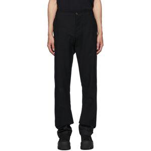 Ann Demeulemeester Black Cotton Double Hem Trousers  - BLACK - Size: 28