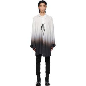 Ann Demeulemeester White & Black Degradé Shirt  - WHITE/BLACK - Size: 2X-Small