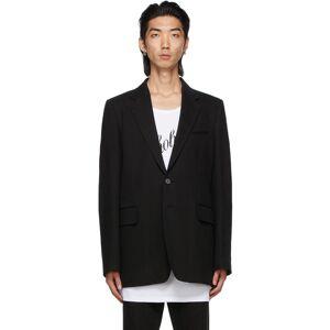 Ann Demeulemeester Black Cotton & Linen Tailored Blazer  - BLACK - Size: Extra Small
