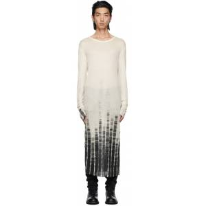 Ann Demeulemeester Off-White Cashmere Tie-Dye Long Sleeve T-Shirt  - WHITE - Size: Large