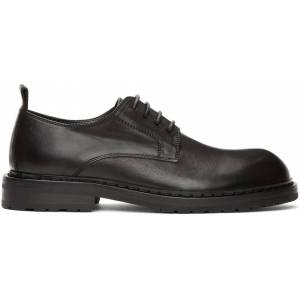 Ann Demeulemeester Black Leather Derbys  - BLACK - Size: 42.5