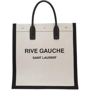 Saint Laurent Off-White & Black 'Rive Gauche' Tote  - 9273 BLKWHT - Size: UNI