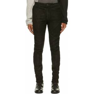 FREI-MUT Black Suede Feral Pants  - TAR - Size: 32