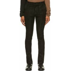 FREI-MUT Black Suede Fledermaus Pants  - TAR - Size: 30