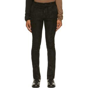 FREI-MUT Black Suede Fledermaus Pants  - TAR - Size: 32