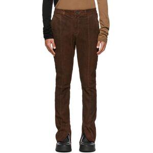 FREI-MUT Brown Suede Fledermaus Pants  - EBANO - Size: 36