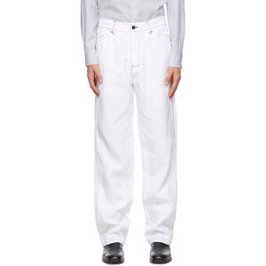 OVERCOAT White Summer Linen Trousers  - WHITE - Size: 32
