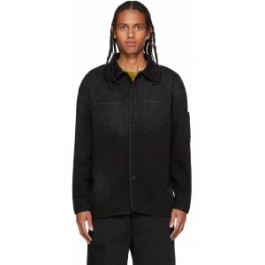 A-COLD-WALL* Black Denim Spray Shirt  - BLACK - Size: Medium
