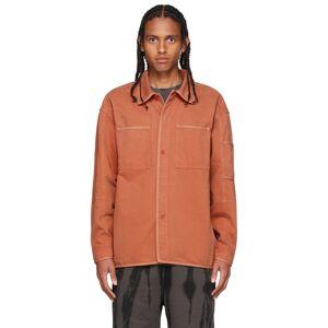 A-COLD-WALL* Orange Denim Spray Shirt  - RUST OXIDE - Size: Small