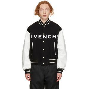 Givenchy Black & White Varsity Jacket  - 004-BLACK/WHITE - Size: Extra Large