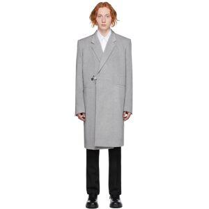 Givenchy Grey Wool Padlock Coat  - 050-LIGHT GREY - Size: Large
