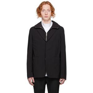 Givenchy Black Nylon Hooded Blazer  - 001-BLACK - Size: Large