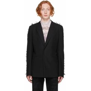 Givenchy Black Wool Studs Blazer  - 001-BLACK - Size: Medium