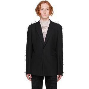 Givenchy Black Wool Studs Blazer  - 001-BLACK - Size: Large