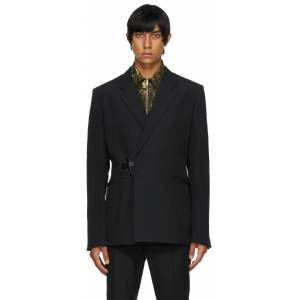 Givenchy Black Wool Padlock Blazer  - 001-BLACK - Size: Large