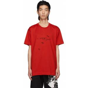 Givenchy Red Oversized Trompe-l'œil T-Shirt  - 600-RED - Size: Extra Small