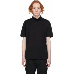 Givenchy Black Funnel Neck 4G T-Shirt  - 001-BLACK - Size: Small