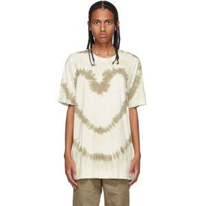 Givenchy Khaki & White Oversized Tie-Dye T-Shirt  - 133-WHITE/KHAKI - Size: Large