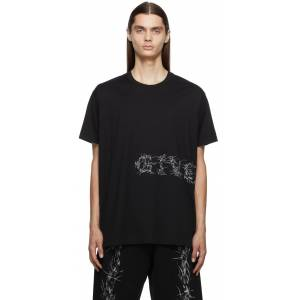 Givenchy Black Oversized Barbed Wire T-Shirt  - 001-BLACK - Size: Extra Small