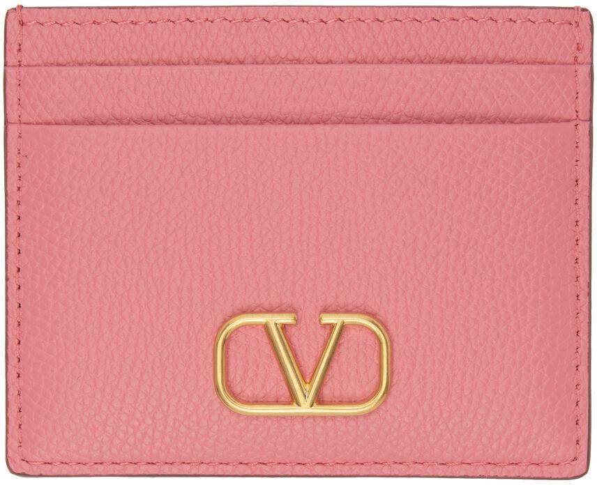 Valentino Garavani Pink VLogo Card Holder  - W10 Flamingo Pink - Size: UNI