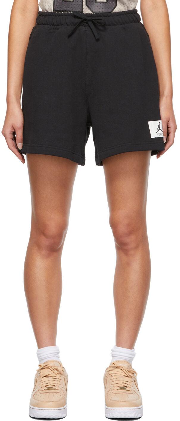 Jordan Black Essential Sweat Shorts  - Black/Gym Red - Size: 26