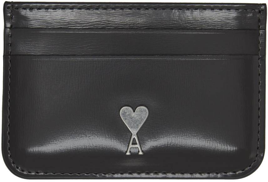 AMI Alexandre Mattiussi Grey Ami de Cœur Card Holder  - 050 Box Grey - Size: UNI