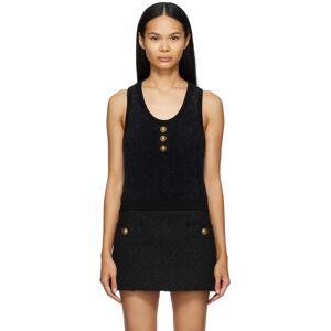 Balmain Black Knit Fluffy Diamond Top  - 0PA Noir - Size: 2X-Large