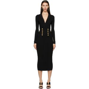 Balmain Black V-Neck 8-Button Dress  - 0PA Black - Size: Large