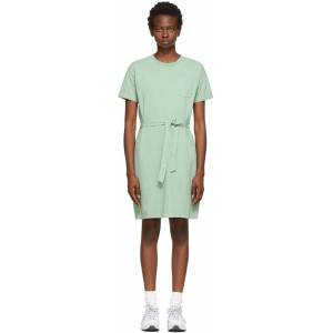 A.P.C. Green Lucy Dress  - KAB Pale Gr - Size: Extra Large