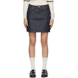 A.P.C. Indigo Denim Standard Miniskirt  - IAI Indigo - Size: 32