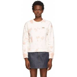 A.P.C. Off-White & Pink Tie-Dye Roma Sweatshirt  - FAA Pink - Size: Extra Small