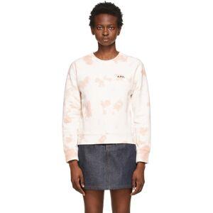 A.P.C. Off-White & Pink Tie-Dye Roma Sweatshirt  - FAA Pink - Size: Small