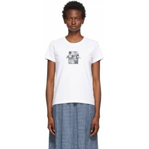 A.P.C. White Teddy T-Shirt  - AAB White - Size: Extra Large